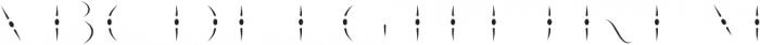 LHF Nugget Inset Regular otf (400) Font LOWERCASE