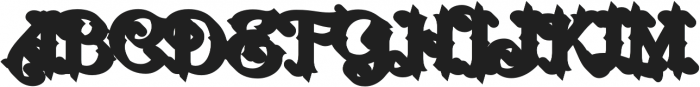 LHF Nugget Shadow Regular otf (400) Font UPPERCASE