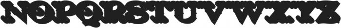 LHF Nugget Shadow Regular otf (400) Font LOWERCASE