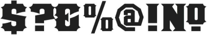 LHF Old Stock 1 Regular Regular otf (400) Font OTHER CHARS