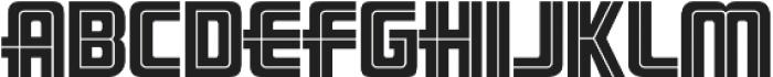 LHF Pipeline Inline Regular otf (400) Font UPPERCASE