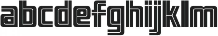 LHF Pipeline Inline Regular otf (400) Font LOWERCASE