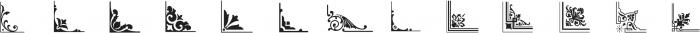 LHF Saratoga Ornaments 1 Regular otf (400) Font UPPERCASE