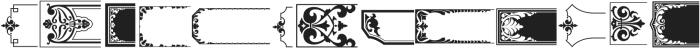 LHF Saratoga Ornaments 2 Regular otf (400) Font UPPERCASE