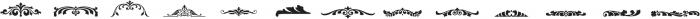 LHF Saratoga Ornaments 2 Regular otf (400) Font LOWERCASE