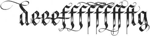 LHF Tributary Distressed Alt 1 Regular otf (400) Font UPPERCASE