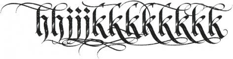 LHF Tributary Distressed Alt 1 Regular otf (400) Font LOWERCASE