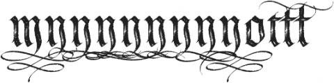 LHF Tributary Distressed Alt 2 Regular otf (400) Font UPPERCASE