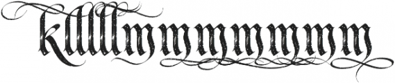 LHF Tributary Distressed Alt 2 Regular otf (400) Font LOWERCASE