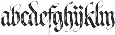 LHF Tributary Distressed otf (400) Font LOWERCASE