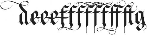 LHF Tributary Regular Alt 1 Regular otf (400) Font UPPERCASE