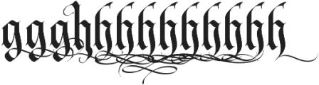 LHF Tributary Regular Alt 1 Regular otf (400) Font LOWERCASE