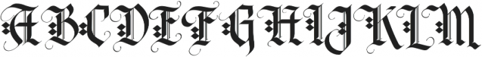 LHF Tributary Regular Regular otf (400) Font UPPERCASE