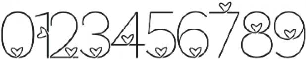 Lhove Font otf (400) Font OTHER CHARS