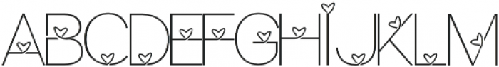 Lhove Font otf (400) Font UPPERCASE