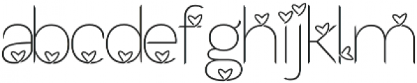 Lhove Font otf (400) Font LOWERCASE