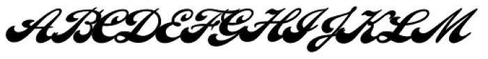 LHF Ballpark Script Font UPPERCASE
