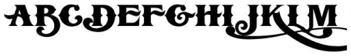 LHF Boston Truckstyle SC Font UPPERCASE
