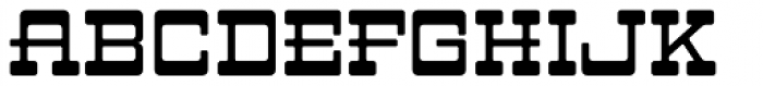 LHF Branding Iron Regular Font UPPERCASE