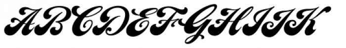 LHF Chicago Script Font UPPERCASE