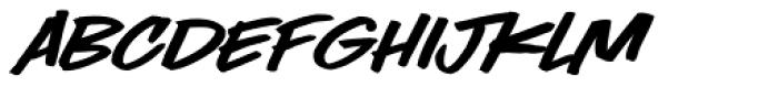 LHF Comic Caps 2 Slant Font UPPERCASE