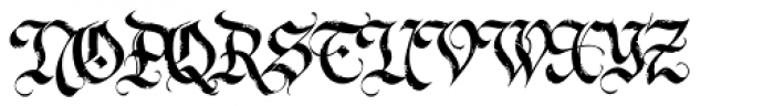 LHF Dark Horse 1 Font UPPERCASE