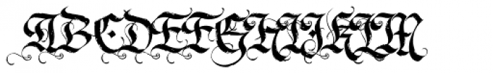 LHF Dark Horse 2 Font UPPERCASE