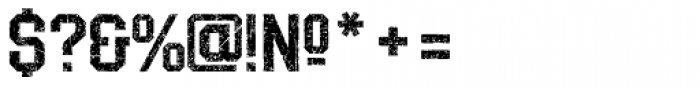 LHF Distressed Block Regular Font OTHER CHARS