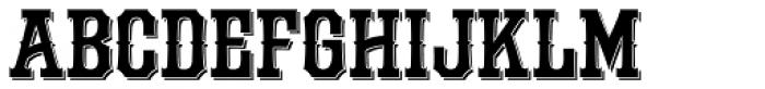 LHF Durango Shadow Font UPPERCASE