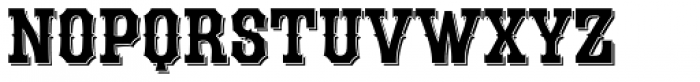LHF Durango Shadow Font LOWERCASE
