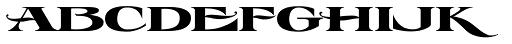 LHF Esoteric 3 Regular Font LOWERCASE