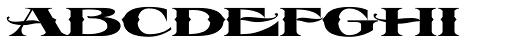LHF Esoteric 3 Spurs Font UPPERCASE