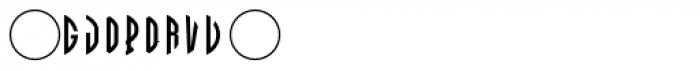LHF Monogram Circle 3 Font OTHER CHARS