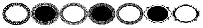 LHF Monogram Oval Frames Font UPPERCASE