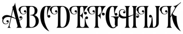 LHF Royal Crimson Regular Font UPPERCASE