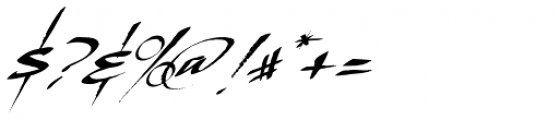 LHF Scriptana Slant Font OTHER CHARS