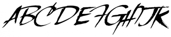 LHF Scriptana Slant Font UPPERCASE