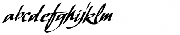 LHF Scriptana Slant Font LOWERCASE