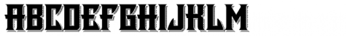LHF Shogun Shadow Font LOWERCASE