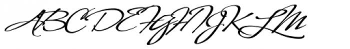 LHF Sofia Script Font UPPERCASE