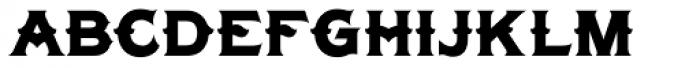 LHF Tonic Nerve Font UPPERCASE