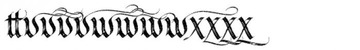 LHF Tributary Distressed Alt 2 Font LOWERCASE