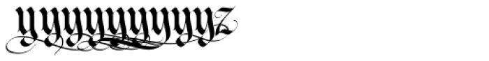 LHF Tributary Regular Alt 2 Font LOWERCASE