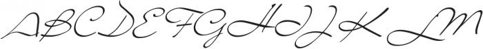 Liana Regular otf (400) Font UPPERCASE