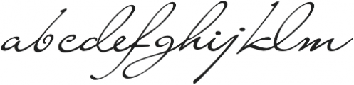 Liana Regular otf (400) Font LOWERCASE