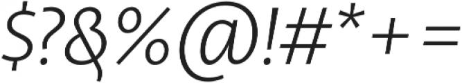 Libertad Light Italic otf (300) Font OTHER CHARS