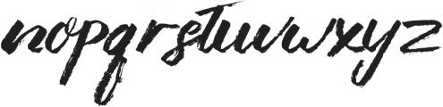 Liberty brush Medium otf (500) Font LOWERCASE