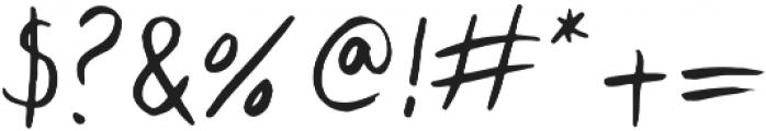 Lid Brush otf (400) Font OTHER CHARS