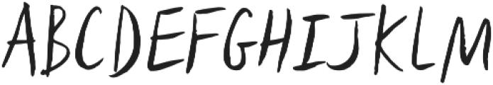 Lid Brush otf (400) Font UPPERCASE