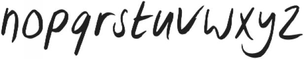 Lid Brush otf (400) Font LOWERCASE